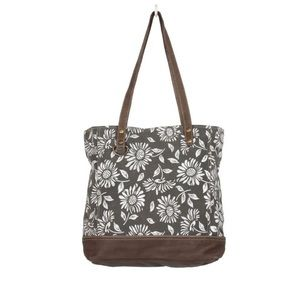 Myra Bag™️ Canvas & Leather Tote Bag